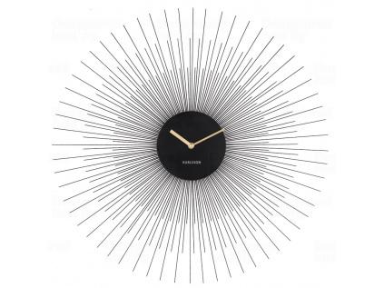 Elegantní nástěnné hodiny 5818BK Karlsson 60 cm