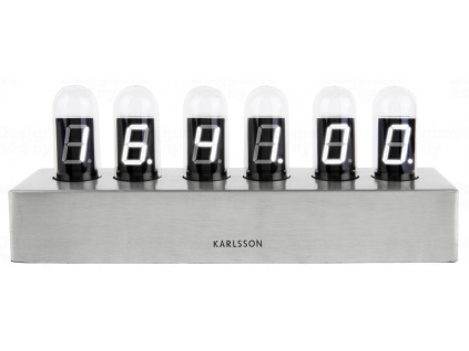 Atypické digitální stolní hodiny Cathode 28 cm