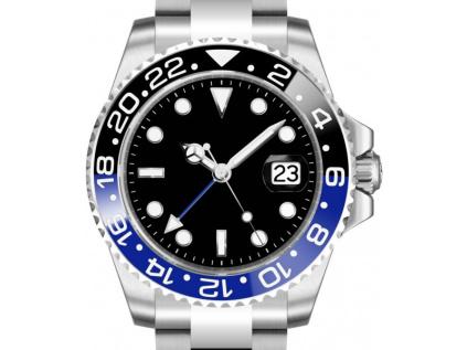 Parnis 3101 Automatic GMT Black-Blue hodinky darek