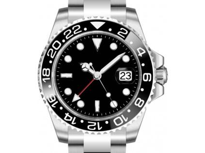 Parnis 3101 Automatic GMT Black-Blue hodinky zeny