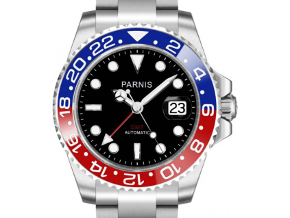 Parnis 3105 Automatic GMT Blue-Red