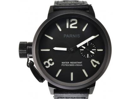 Parnis 3114 PVD Black hodinky pro muze