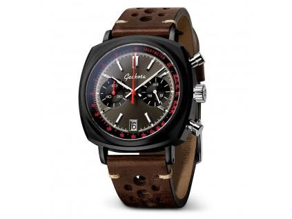 Geckota C-01 SII Racing Chronograf Watch Black-Red