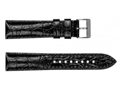 Černý kožený řemínek Geckota Vintage Otley