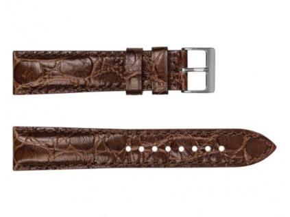 Hnědý kožený řemínek Geckota Vintage Otley, vzor krokodýl