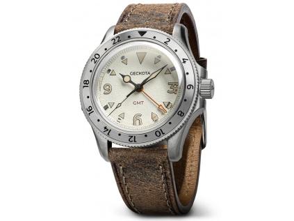 Geckota G-02 GMT Cream Dial