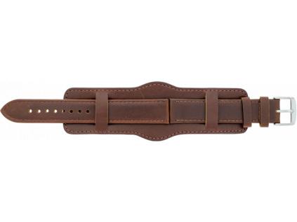 Mavex hnědý kožený řemínek na hodinky s podložkou