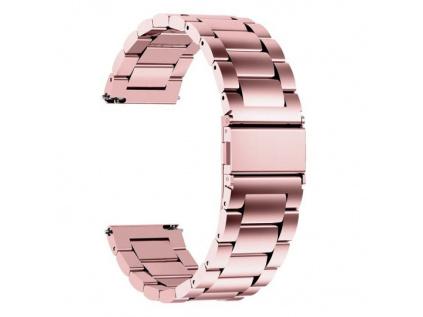 Luxusní masivní ocelový řemínek Solid, PVD barva růžové zlato