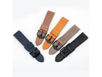 Klasický modrý kožený řemínek Solid