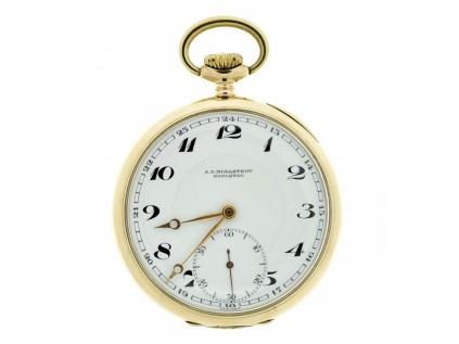 Zlaté kapesní hodinky A.E. Mollstedt Karlstad 1920-1935
