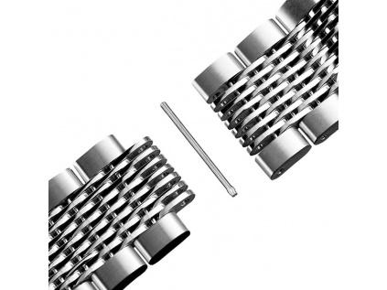 Solid stříbrný ocelový řemínek  – Zdarma zkrácení řemínku | 1 měsíc na vrácení + Stěžejky příslušné délky