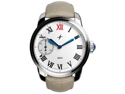 Pánské ruské hodinky Molnija retro Green Ray 2.0 1 Brown