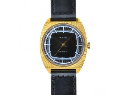 """Starožitné pozlacené hodinky Prim """"televize"""" z roku 1980"""