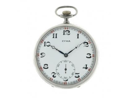Kapesní jednoplášťové švýcarské hodinky CYMA 1920-1930