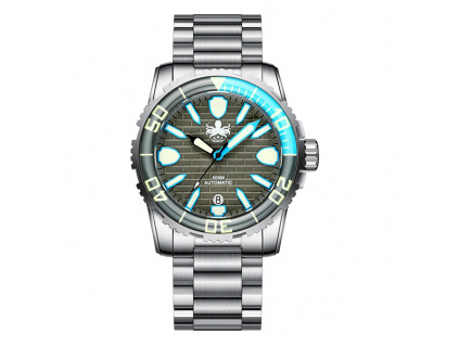Phoibos Great Wall Diver 500M PY022E Grey-Blue