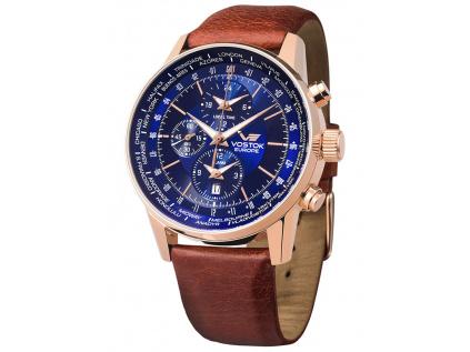 Společenské modré hodinky Vostok Europe