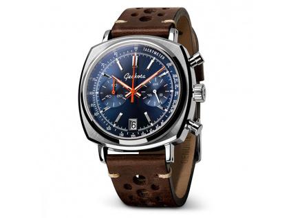 Hodinky Geckota C-01 SII Racing Chronograf Blue Sunburst Dial