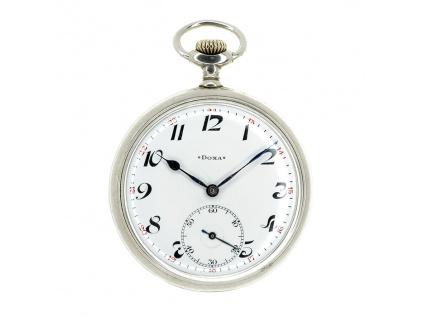 Doxa švýcarské dvouplášťové kapesní hodinky 1910-1920