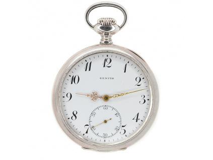 Stříbrné kapesní hodinky ZENITH GRAND PRIX z roku 1916