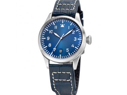 Tisell Pilot Type A Blue Date 40 mm