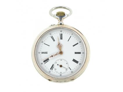 Stříbrné kapesní hodinky z dílny Henryho NICODA 1900-1910  + Dárek k objednávce