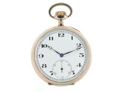 NIDOR - švýcarské stříbrné kapesní hodinky
