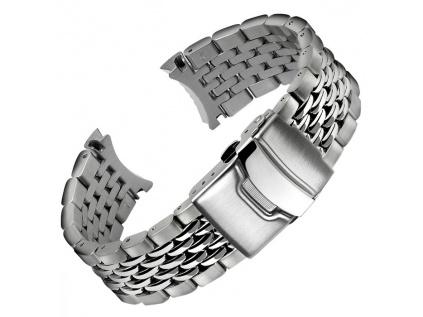 Ocelový řemínek Geckota Ends Beads of Rice Watch 22 mm