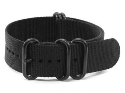 ZULU NATO nylonový černý řemínek na hodinky