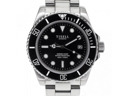 Tisell Diver Sub 9015 Black Date