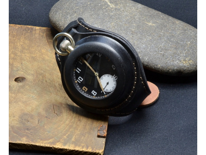 Speciální kožený pásek na kapesní hodinky ,black,černý,002,3 (1)