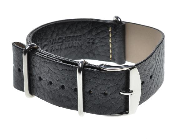 Speciální průvlekový pásek na hodinky ZULU, černý Šířka: 18 mm