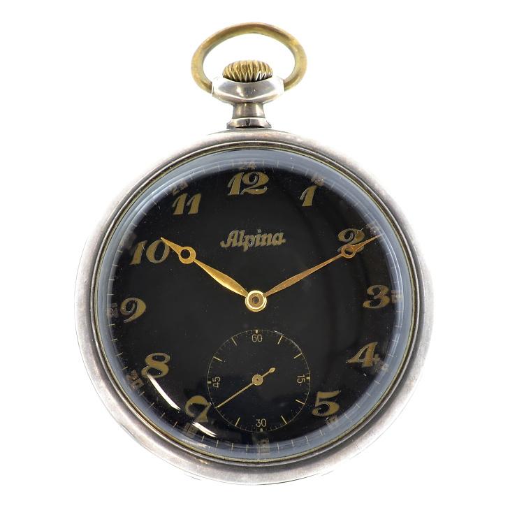 Alpina kapesní vojenské hodinky 1930-1940 ac750c38883