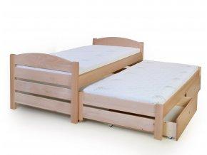 Rozkládací postel 90x200 s úložným prostorem