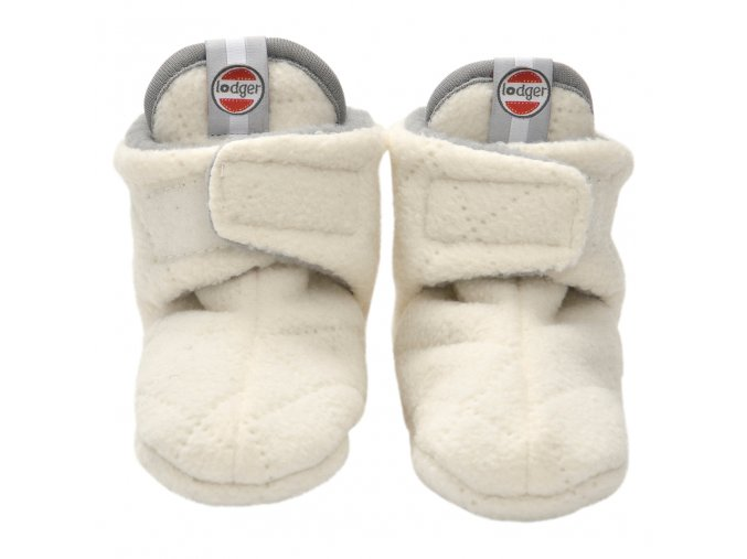 LODGER Capáčky Slipper Fleece Scandinavian Off-White