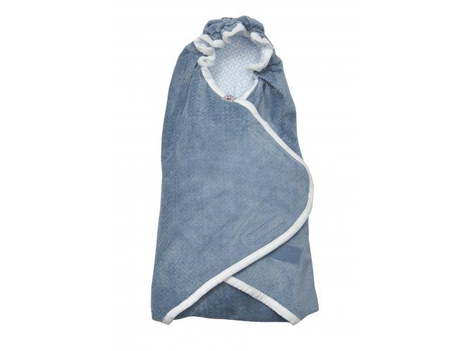 LODGER Zavinovačka Wrapper Newborn Scandinavian Flannel Steel-Grey