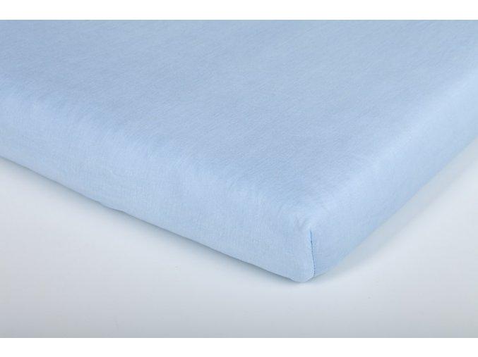 Träumeland prostěradlo jersey UNI světle modré 70 x 140 cm