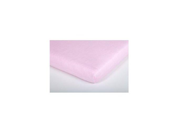 Träumeland prostěradlo jersey UNI rosa 70 x 140 cm