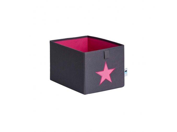 box malý šedá s růžovou hvězdou 1