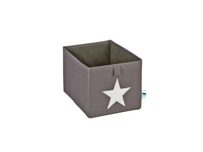 box malý šedá s bílou hvězdou