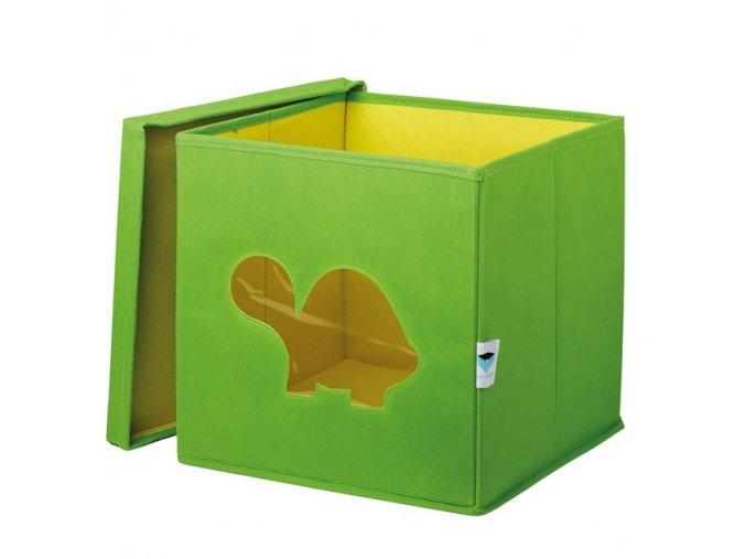 box s okénkem želva