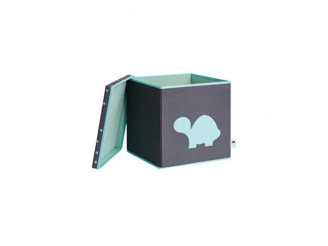 box s víkem šedá se želvou