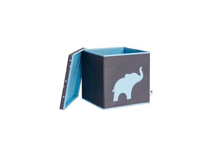 box s víkem šedá se slonem 3