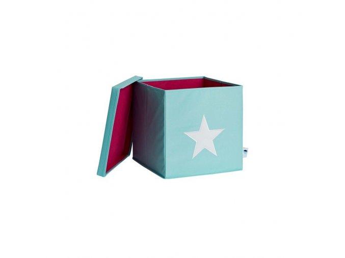 box s víkem mintová s hvězdou