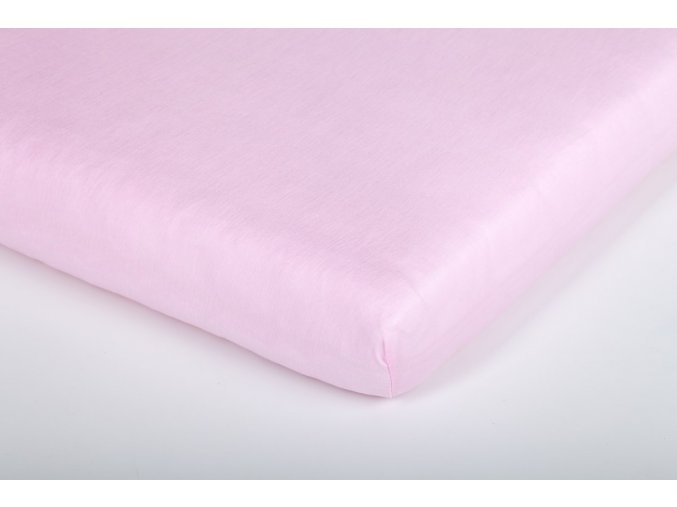 Träumeland prostěradlo Tencel UNI světle růžové 70 x 140 cm