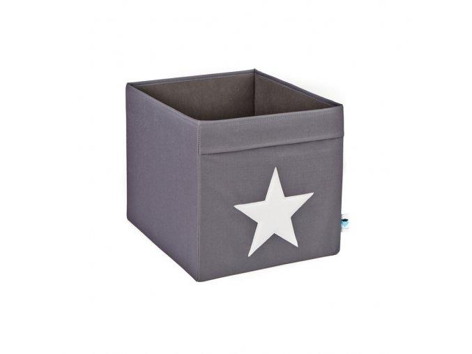 box velký šedý s bílou hvězdou