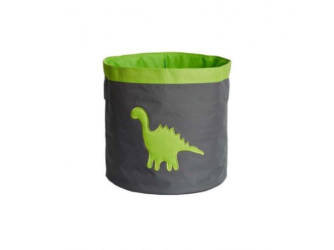 koš velká šedá s dinosaurem
