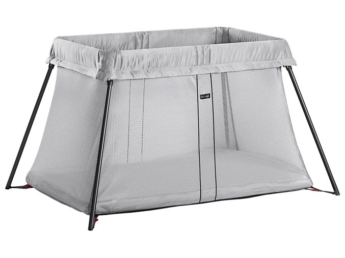 travel crib light silver 040248 babybjorn