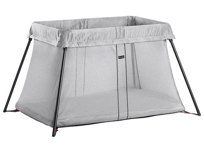 travel crib light silver 040248 babybjorn