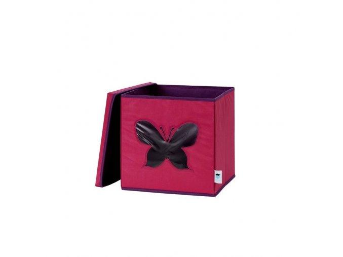 STORE IT Box na hračky s okénkem motýl