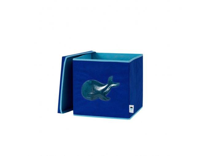 STORE IT Box na hračky s okénkem velryba